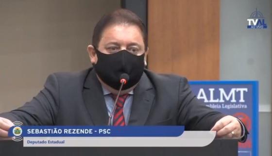 Sebastião Rezende ainda faz parte do quadro de deputados da ALMT.