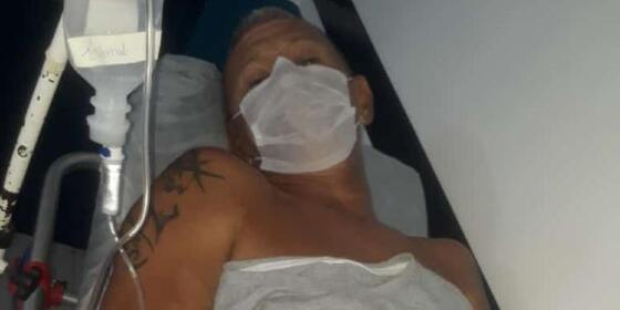 Paciente em tratamento e sob suspeita de ter contraído a doença da Urina Preta